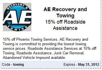 Phoenix Towing and Roadside Assistance Discount Coupon